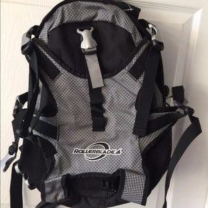 Black and Grey Rollerblade Skating Backpack
